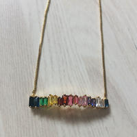 rainbow  color  necklace