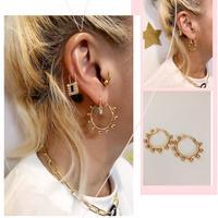 ball hoop earring
