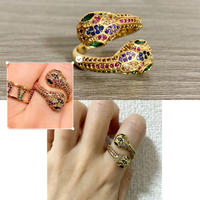 Double head snake ring
