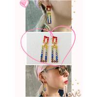 Rainbow Rec earrings