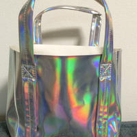 Mini matte holographic tote bag