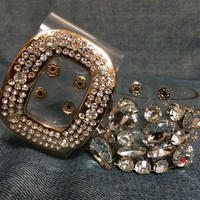 Bling bling clear wide cuff