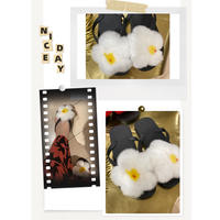 White flower sandals