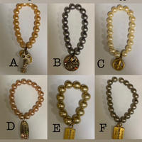 Vintage style lucky pearl bracelet