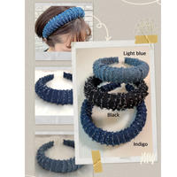 Cut off denim head band