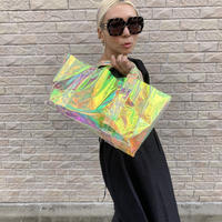 old model mirror tote clear hologram large