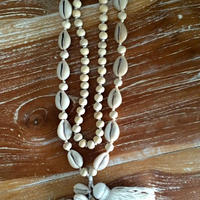 Shell tassel long necklace