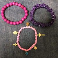 Happy & peace bracelets PINK