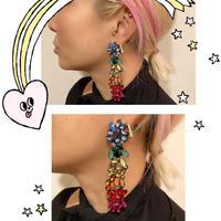 Rainbow bijoux earrings