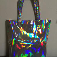 Holographic shoulder tote