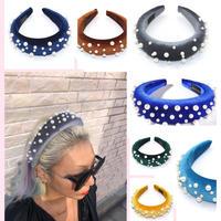 Padded headband w pearl