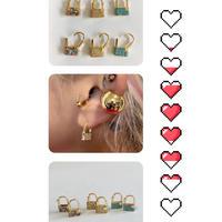 Mini lock bijoux earrings