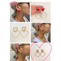 big heart earring