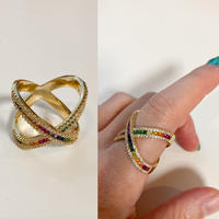 Rainbow cross ring