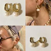 Studded pearl earrings