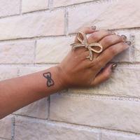 big ribbon ring