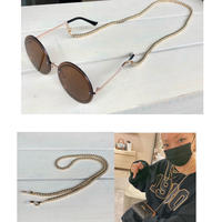 Gold ball chain mask glasses holders