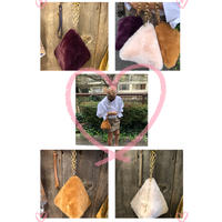 Triangle eco fur bag