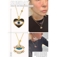heart eye /open eye necklace