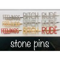 stone pins