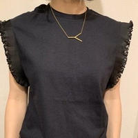 REMAKE LITTLE FRILLED SLEEVE TEE