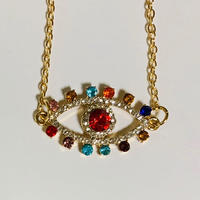 rainbow eye necklace