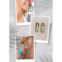 Clear stone Safety pins earrings