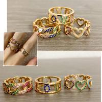 Various rainbow ring