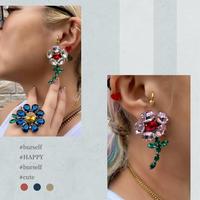 blooming flower earring