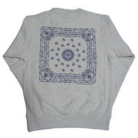 BANDANA CREW NECK SWEAT(ASH GLAY)