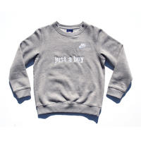 NIKE CUSTOM MADE CLUB CREW NECK SWEATSHIRT GREY