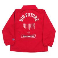 READYMADE BIG FUTURE  COACH JACKET / RED