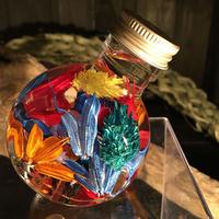 ハーバリウム ドラム型ガラスボトル(Colorful)