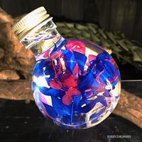 ハーバリウム ドラム型ガラスボトル(Blue)