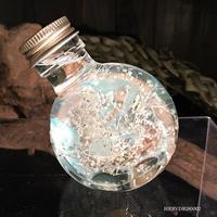 ハーバリウム ドラム型ガラスボトル(Light blue, White)