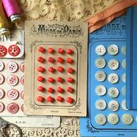 赤い貝ボタン24個シート