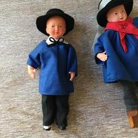 ノルマンディー界隈の19~20世紀の庶民男性の服を着た男の子のお人形
