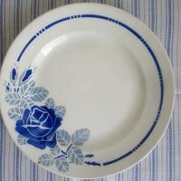 バドンヴィレ窯ブルー薔薇大きめプレート