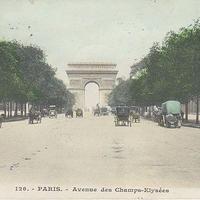 シャンゼリゼ通りと凱旋門のポストカード