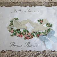 白鳩と薔薇ガーランドのポストカード