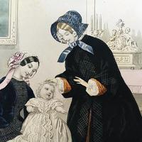 洗礼の日の赤ちゃんと家族のグラビュール