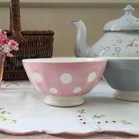 サルグミンヌ窯水玉模様のピンクのプチボウル
