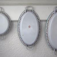 BB社薔薇ガーランド楕円形パエリアパン(小)