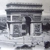 パリ凱旋門のポストカード