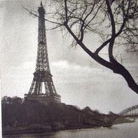 セーヌ川とエッフェル塔のポストカード