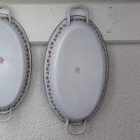BB社薔薇ガーランド楕円形パエリアパン(大)