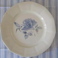 ディゴワン・サルグミンヌのブルー薔薇平皿(小)