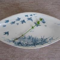 イギリス製ひし形皿ラヴィエ