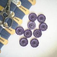 お花の形のボタン 紫(大)9個