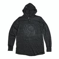 """【Sale Item】Words Logo Hooded L/S Tee """"45 MILLIMETER"""" (Black × Black)"""